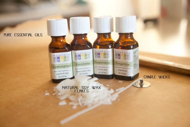 essential oils candle making