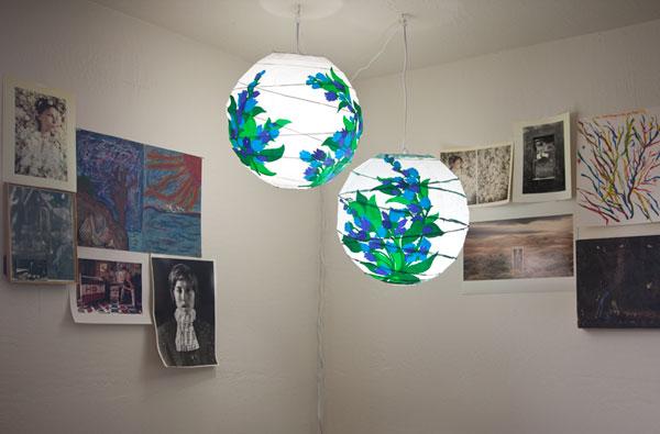 decoupage lantern hanging