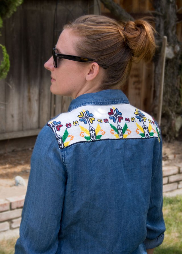 chambray shirt diy