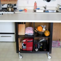 Renter Friendly Ideas: Rolling Kitchen Island