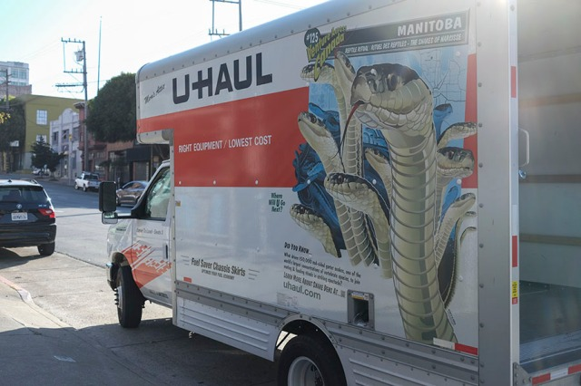 Uhaul with snakes