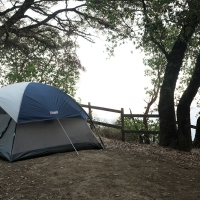 Camping in Bottchers Gap, Big Sur CA